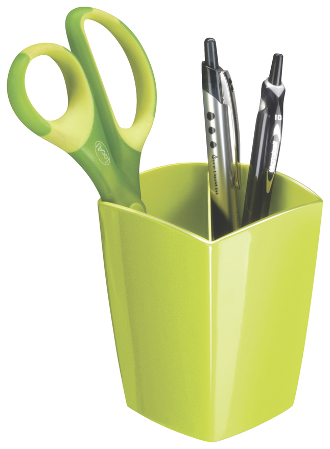 "Image for CEP Large Pencil Cup -- Pencil Cup, Freestanding, 2-9/10""Wx2-9/10""Lx3-3/4""H, Green from School Specialty"