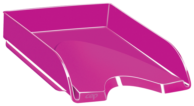 "Image for CEP Gloss Letter Tray -- Letter Tray,Stackable,10-1/10""Wx13-7/10""Lx2-3/5""L,PrettyPink from School Specialty"