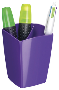 "Image for CEP Large Pencil Cup -- Pencil Cup, Freestanding, 2-9/10""Wx2-9/10""Lx3-3/4""H, Purple from School Specialty"