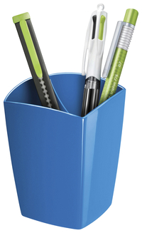 "Image for CEP Large Pencil Cup -- Pencil Cup, Freestanding, 2-9/10""Wx2-9/10""Lx3-3/4""H, Blue from School Specialty"
