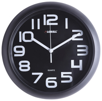 Image for Lorell Quiet Wall Clock, 11-5/8 Inches, Black Frame/Black Dial from SSIB2BStore