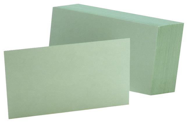 3x5 Blank Index Cards, Item Number 2010316