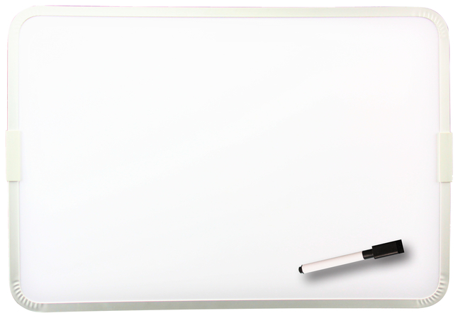 Flipside Two Sided Framed Magnetic Dry Erase Board With Marker 9 X 12 Inches White