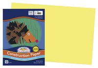 SunWorks Heavyweight Construction Paper, 12 x 18 Inches, Yellow, 50 Sheets Item Number 201202