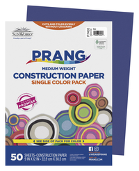 SunWorks Heavyweight Construction Paper, 9 x 12 Inches, Blue, 50 Sheets Item Number 201234