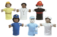 Image for Children's Factory Ethnic Occupation Puppets, 9 Inch, Set of 6 from School Specialty