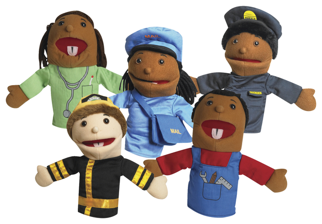 Image for Children's Factory Career Puppets, 10 Inch, Set of 5 from SSIB2BStore