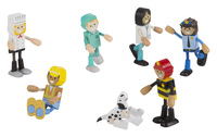 Image for Melissa & Doug Wooden Flexible Figures Careers, Set of 7 from School Specialty