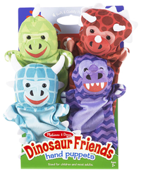 Image for Melisa & Doug Dinosaur Hand Puppets, Set of 4 from School Specialty