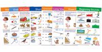 NewPath Decoding & Phonics Charts, Grades 1 to 3, Set of 8 Item Number 2013668