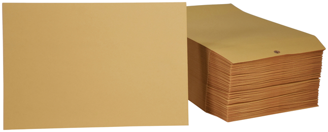 Pack of 100 6-1//2 x 9-1//2 Inches School Smart Kraft Envelope with Clasp No 63