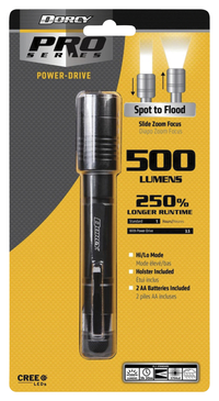 Image for Dorcy Z DRIVE PWM Flashlight, 500 Lumen, Black, Each from School Specialty