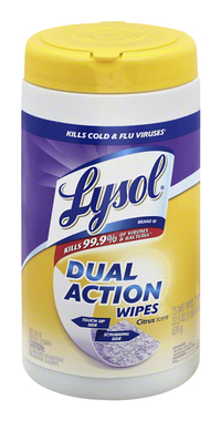 Image for Lysol Dual Action Wipes, 75 Count, Pack of 6 from SSIB2BStore