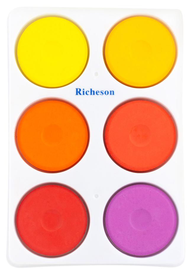 Set of 6 Jack Richeson Standard Tempera Paint Cake Set Assorted Color