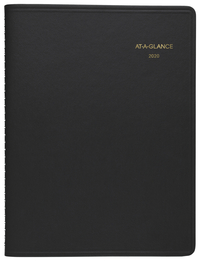 Image for At-A-Glance Classic Weekly Appointment Book, Leather, Black, Each from School Specialty