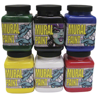Chroma Mural Paint, Assorted Colors, Set of 6 Pints Item Number 2019441