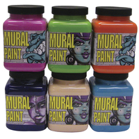 Chroma Mural Paint, Assorted Bright Colors, Pints, Set of 6 Item Number 2019443