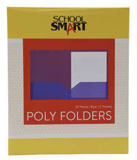 Poly 2 Pocket Folders, Item Number 2019621