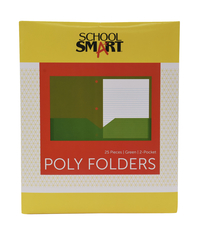 Poly 2 Pocket Folders, Item Number 2019624