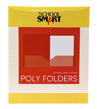 Poly 2 Pocket Folders, Item Number 2019637