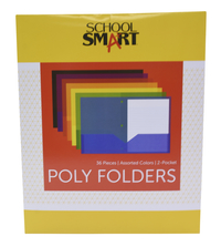Poly 2 Pocket Folders, Item Number 2019646