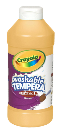 Crayola Artista II  Washable Tempera Paint, Pint, Peach Item Number 201965