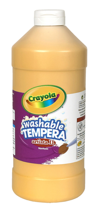 Crayola Artista II  Washable Tempera Paint, Quart, Peach Item Number 201968