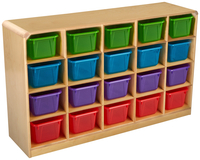 Image for Childcraft Korners For Kids Mobile Cubby Unit, 20 Translucent Color Trays, 47-3/4 x 13 x 30 Inches from School Specialty