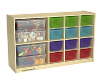 Image for Childcraft Storage Unit, 12 Translucent Colored Trays, 47-3/4 x 13 x 30 Inches from School Specialty