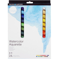 Daler-Rowney Simply Watercolor Tube Set, 0.4 Ounce, Set of 24 Item Number 2020180