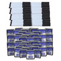 Image for Flipside Dry Erase Pen and Eraser Pack, Black, Set of 96 from SSIB2BStore