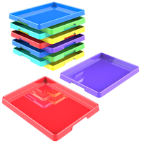 Storex Sorting and Crafts Tray, 12 x 16 Inches, Assorted Colors, Set of 12 Item Number 2021189