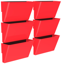 Image for Storex Magnetic Wall Pocket, Letter Size, Red, Pack of 6 from School Specialty