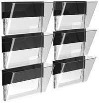 Image for Storex Magnetic Wall Pocket, Letter Size, Clear, Pack of 6 from School Specialty