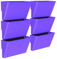 Image for Storex Magnetic Wall Pocket, Letter Size, Purple, Pack of 6 from School Specialty
