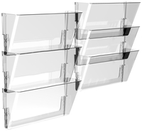 Image for Storex Wall File, Letter Size, Clear, Pack of 6 from School Specialty
