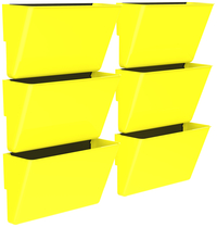 Image for Storex Magnetic Wall Pocket, Letter Size, Yellow, Pack of 6 from School Specialty