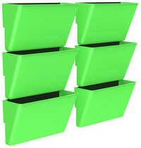 Image for Storex Magnetic Wall Pocket, Letter Size, Green, Pack of 6 from School Specialty