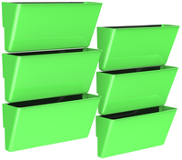 Image for Storex Magnetic Wall Pocket, Legal Size, Green, Pack of 6 from School Specialty
