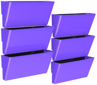 Image for Storex Magnetic Wall Pocket, Legal Size, Purple, Pack of 6 from School Specialty