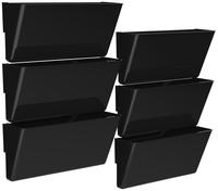 Image for Storex Magnetic Wall Pocket, Legal Size, Black, Pack of 6 from School Specialty