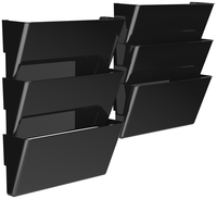 Image for Storex Unbreakable Wall File, Legal Size, Black, Pack of 6 from School Specialty