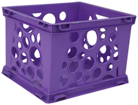 Image for Storex Micro Crate, 6-3/4 x 5-4/5 x 4-4/5 Inches, Purple, Pack of 18 from School Specialty