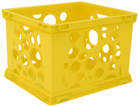 Image for Storex Micro Crate, 6-3/4 x 5-4/5 x 4-4/5 Inches, Yellow, Pack of 18 from School Specialty