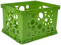 Image for Storex Micro Crate, 6-3/4 x 5-4/5 x 4-4/5 Inches, Green, Pack of 18 from School Specialty