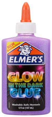 Elmer's Glow in the Dark Glue, 5 Ounces, Purple Item Number 2021517