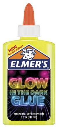 Elmer's Glow in the Dark Glue, 5 Ounces, Yellow Item Number 2021522