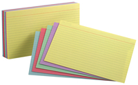 5x8 Ruled Index Cards, Item Number 2021586