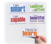 Image for Inspired Minds Self-Esteem Booster Set - Set of 5 Magnets from School Specialty