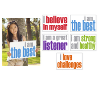 Image for Inspired Minds Positivity Booster Set - Set of 5 Posters from School Specialty
